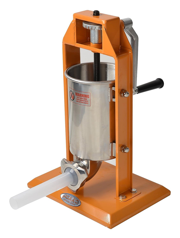 Hakka Sausage Stuffer 7 Lb/3 L Stainless Steel Vertical Meat Filler(color Orange) Hakka Brothers ST-V3