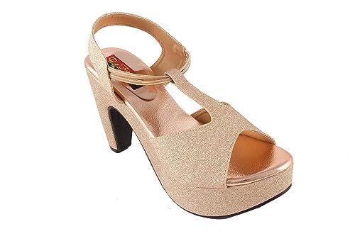 2c491553ba30 Shree Ethnic Women Girls High Heel Robot Fome Sandals  Buy Online at Low  Prices in India - Amazon.in