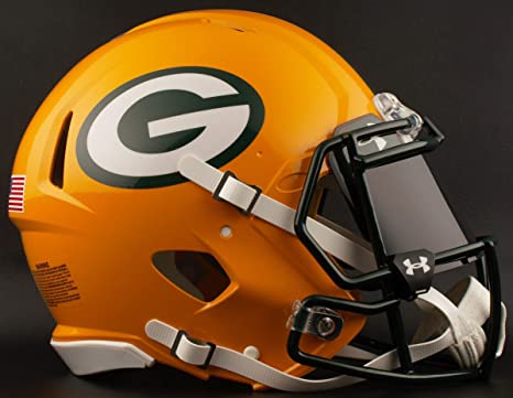 a4302c453 Image Unavailable. Image not available for. Color  Riddell Green Bay  Packers NFL Football Helmet with Dark-Tint Black Visor Eye