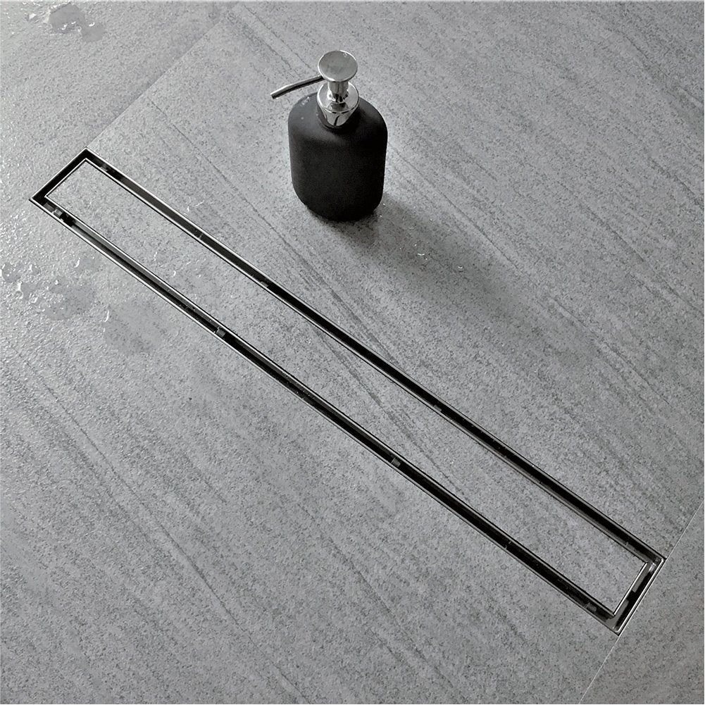 Neodrain 28 inch linear shower drain with tile insert grate