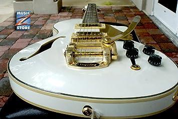 EPS Ltd pc1 V Semi-Hollow Vintage guitarra eléctrica Blanco Perla, Seymour Duncan, producto nuevo en caja.: Amazon.es: Instrumentos musicales