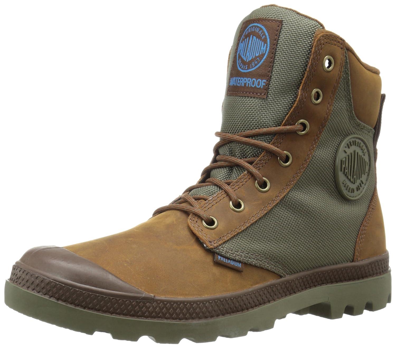 Palladium Men's Pampa Sport Cuff Wpn Rain Boot B00T4X5WNO 6 D(M) US|Brindle Brown/Moon Mist
