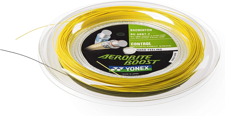 White Yonex BG68Ti Badminton String 200m Reel