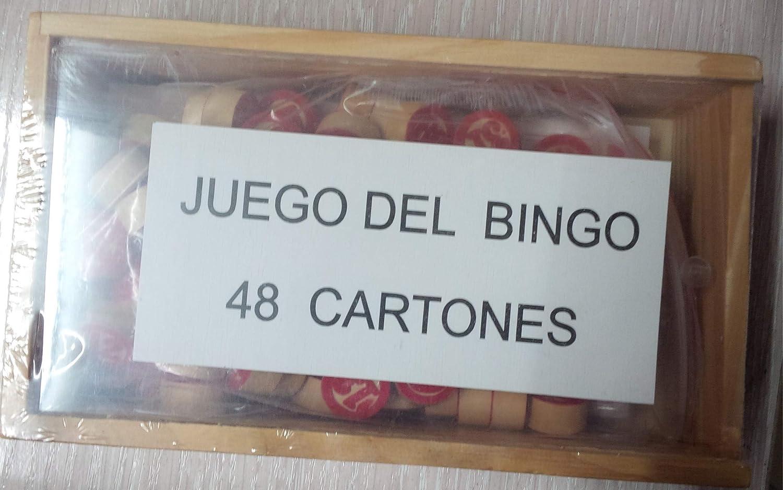BINGO CAJA MADERA FICHAS-CARTO