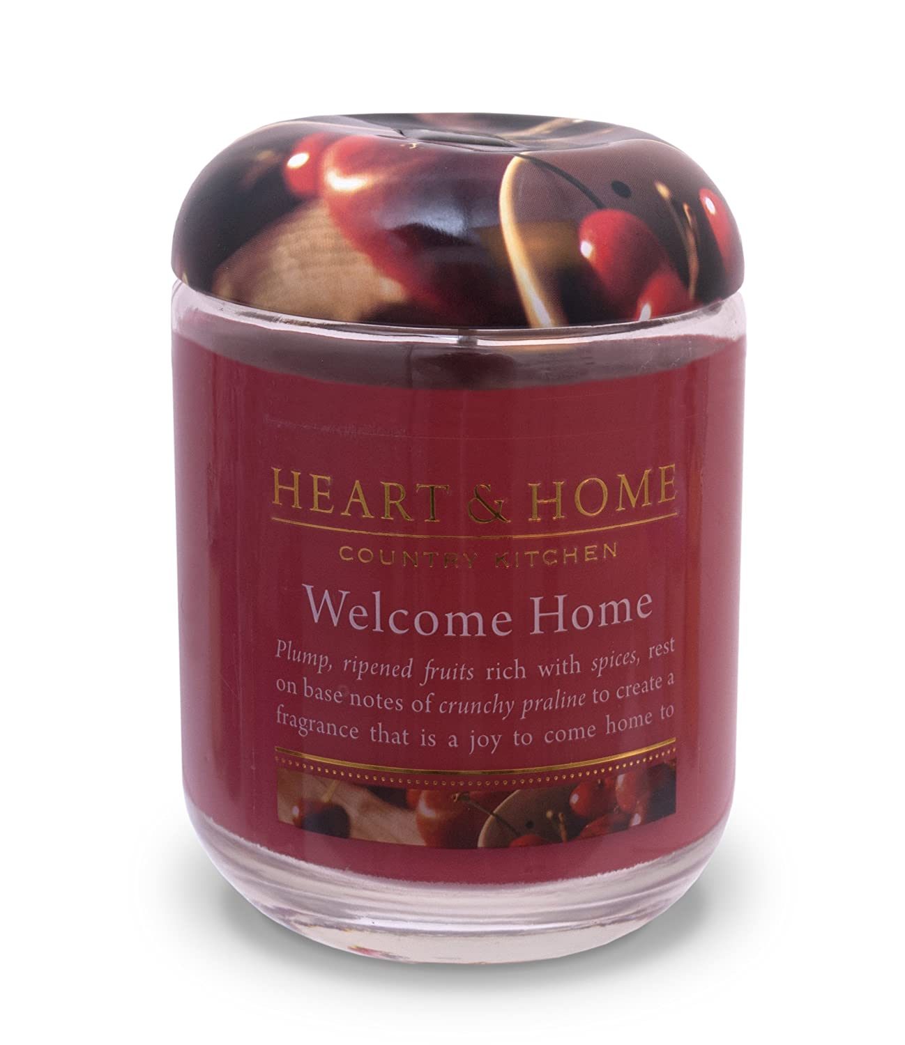 Heart & Home Large Glass Welcome Home Candle History & Heraldry 00275000206