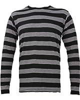 Amazon.com: Adult Women's Long Sleeve Striped Shirt Heather Gray ...
