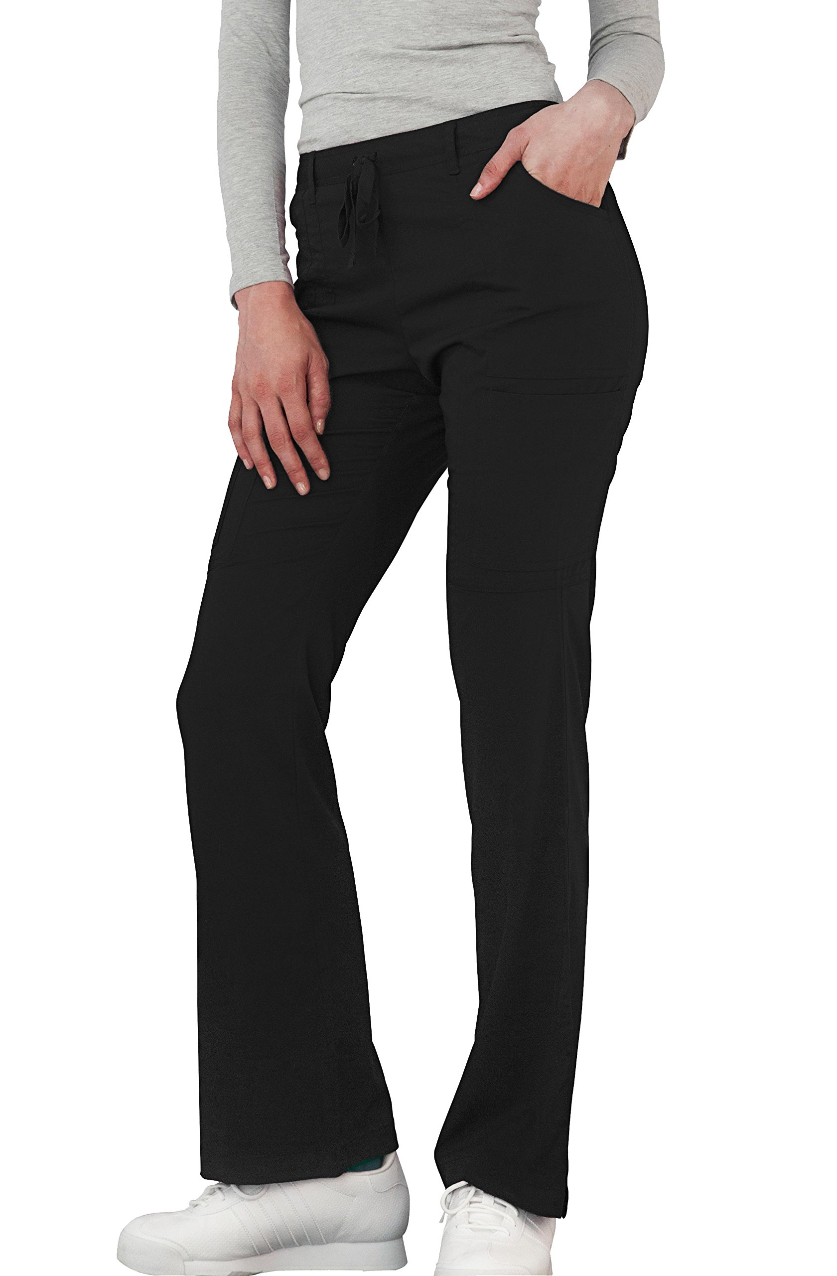 Adar Indulgenc Jr. Fit Low Rise Boot Cut Patch Pocket Pants - 4104 - Black - XS