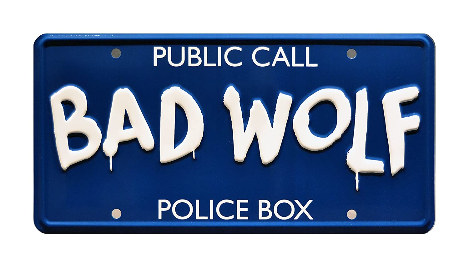 Celebrity Machines Doctor Who | TARDIS | BAD WOLF | Metal Stamped Vanity Prop License Plate