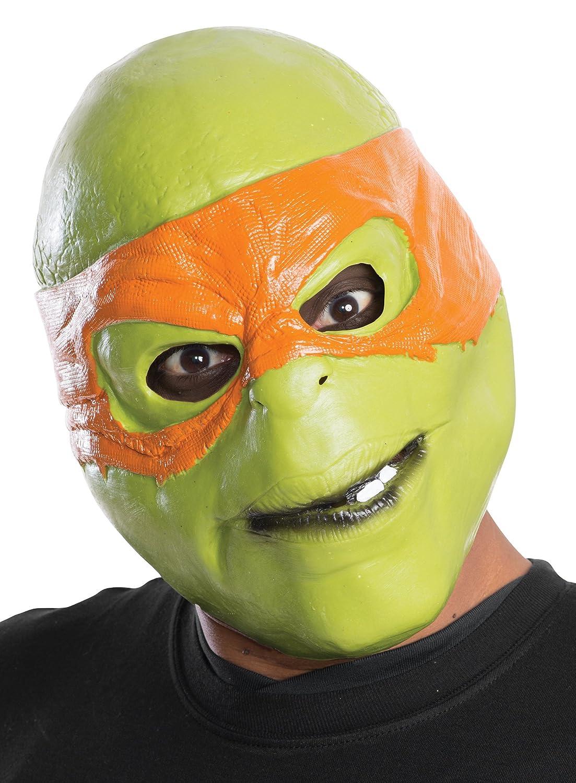 Rubie's Costume Men's Teenage Mutant Ninja Turtles Michelangelo Adult 3/4 Mask