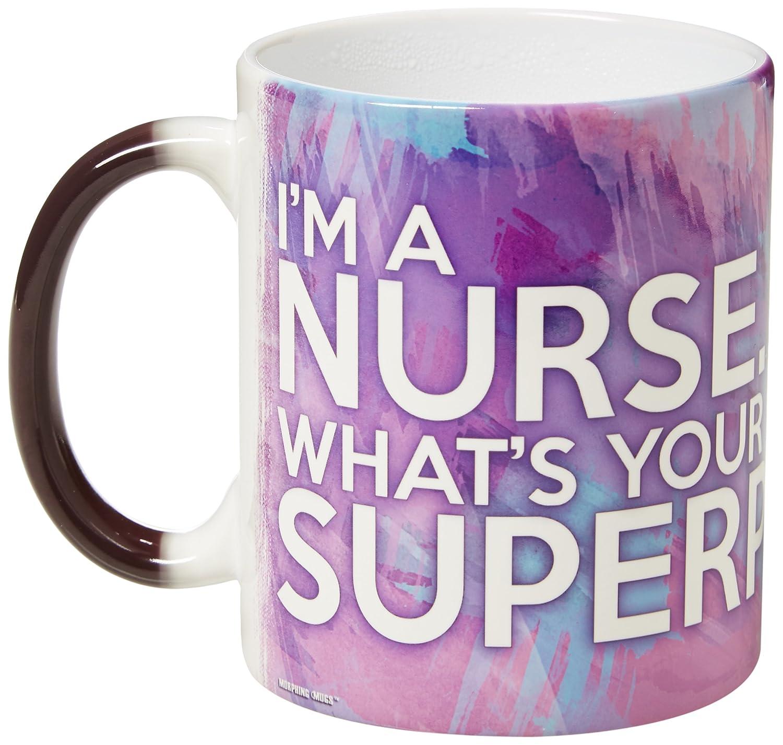 Trend Setters Nurse Superpower Morphing Mugs Heat-Sensitive Mug Black//White Trend Setters Ltd MMUG304