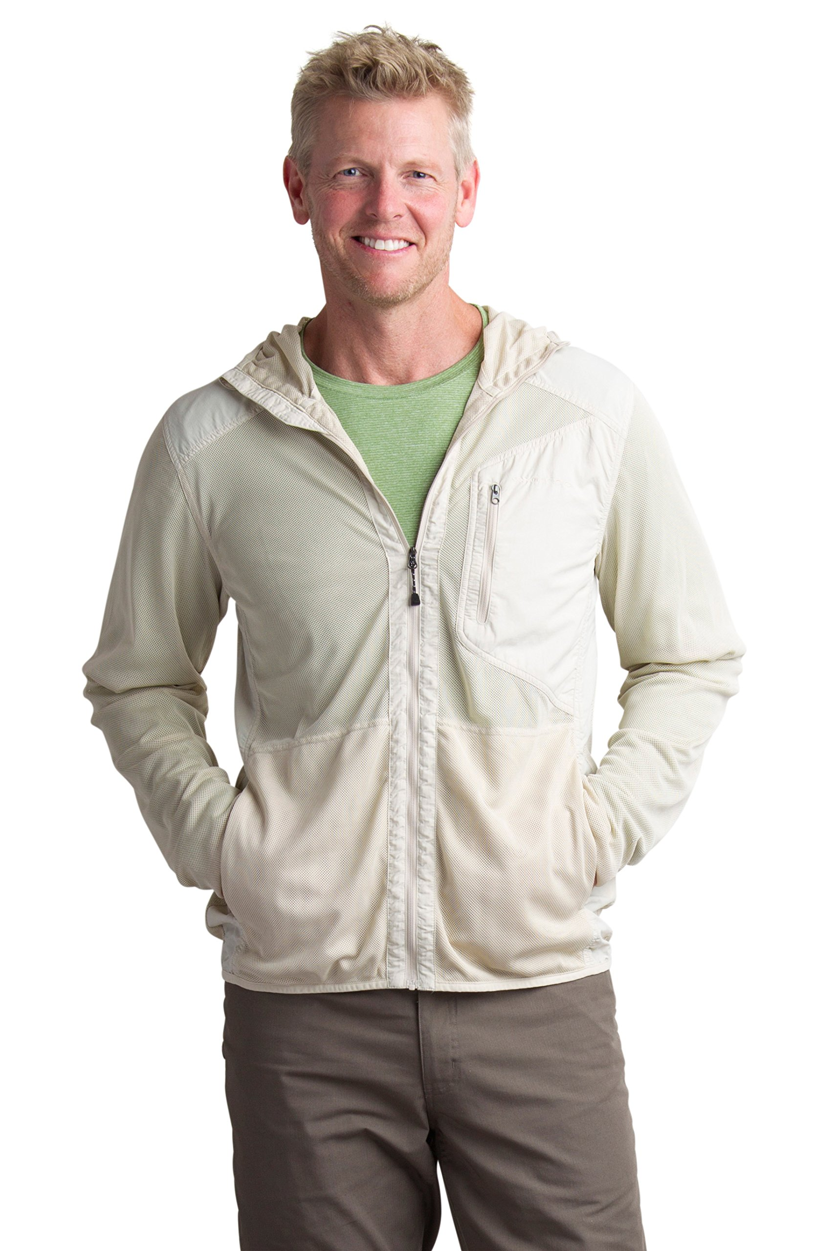 ExOfficio Men's Bugsaway Sandfly Jacket, BONE, X-Large by ExOfficio