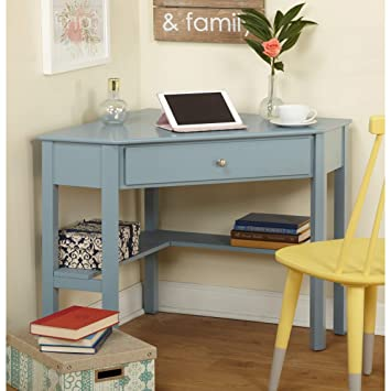 the latest 2d2d2 0b94f Amazon.com: Corner Desk, Includes a Drawer and Lower Shelves ...