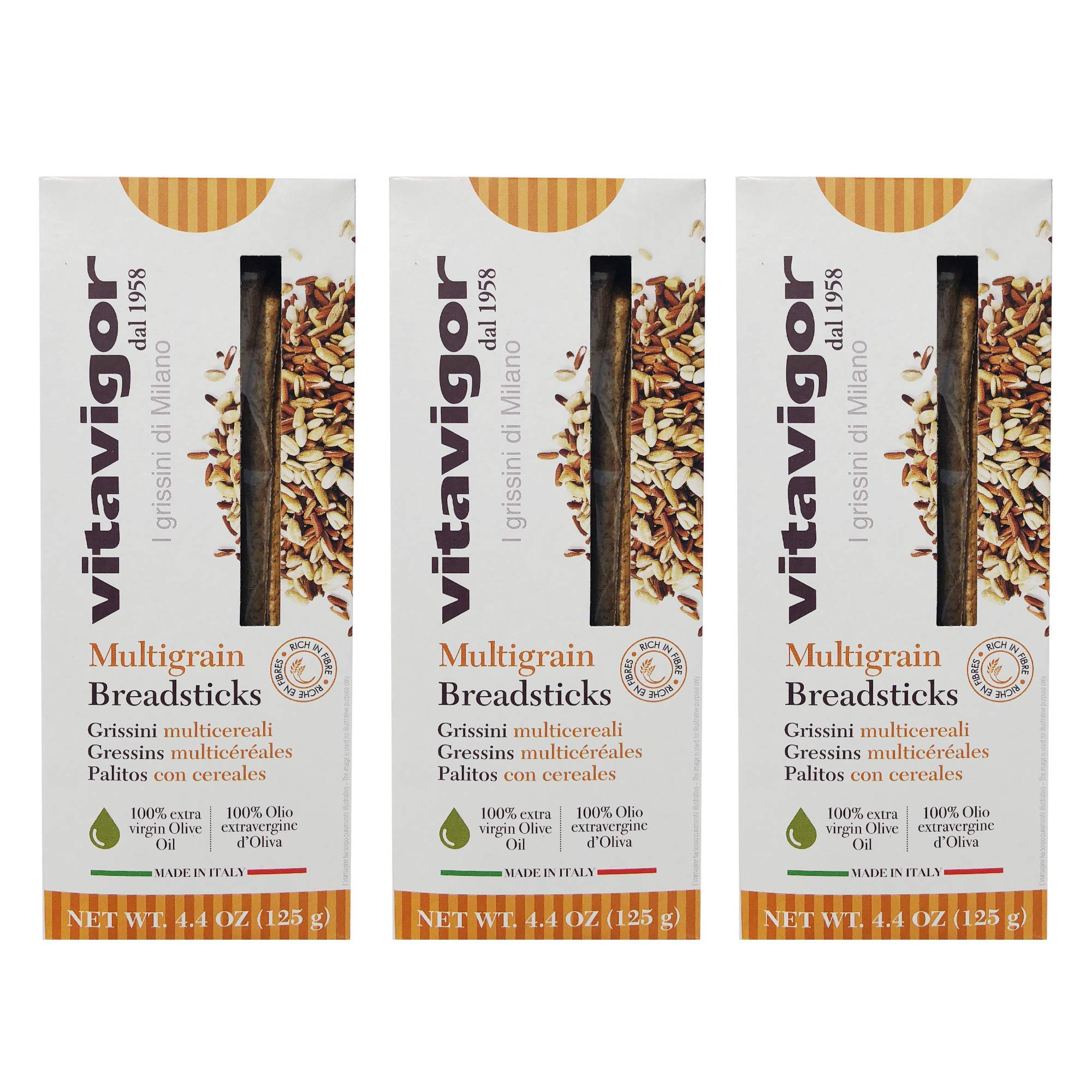 Grissini Breadsticks Multigrain 3-pack by Vita Vigor