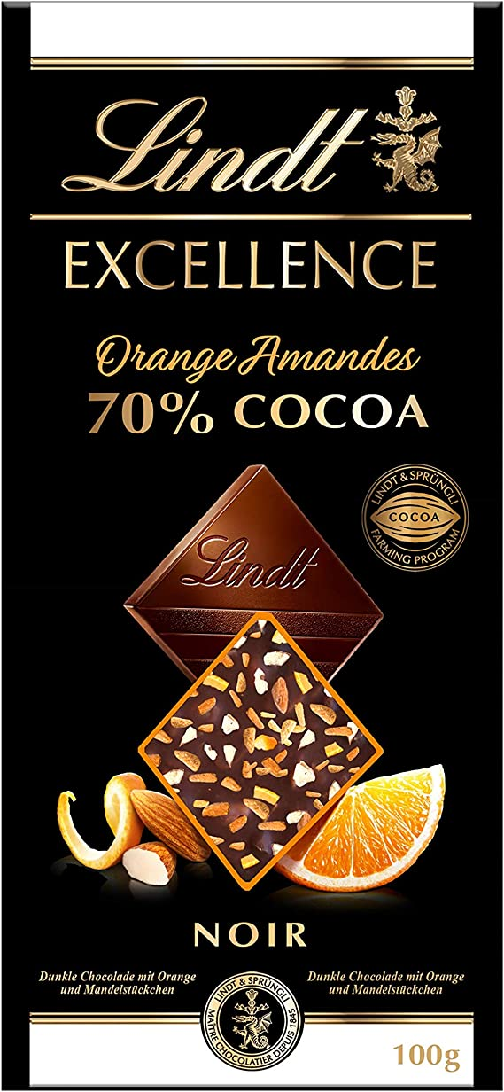 Lindt Excellence – Tableta de chocolate negro 70% cacao con ...