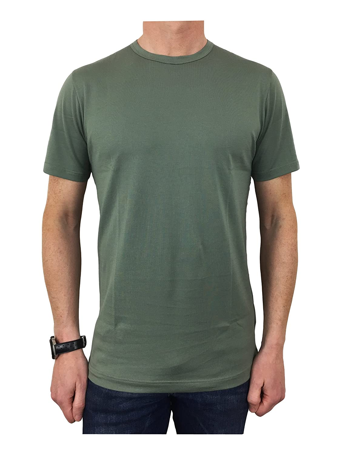 Sunspel - Camiseta - para hombre verde verde (Fern Green) Medium ...