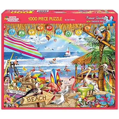 White Mountain Puzzles Happy Hour, 1000 Piece Jigsaw Puzzle: Toys & Games