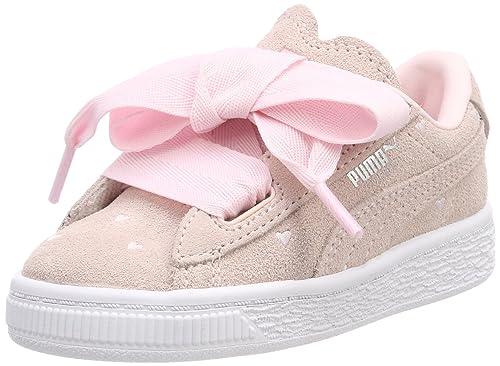 Puma Suede Heart Valentine Inf, Zapatillas para Niñas: Amazon.es: Zapatos y complementos