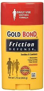 Gold Bond Friction Defense Soothing Formula Unscented, 1.75 Oz, Pack of 6