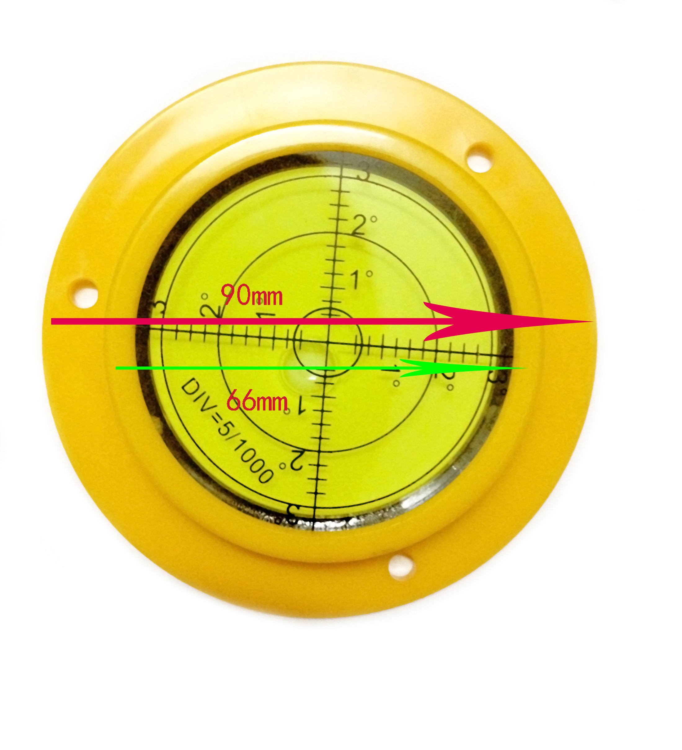 90mm Disc Bubble Spirit Level Round Circle Circular with Mounting Holes Rv Camper