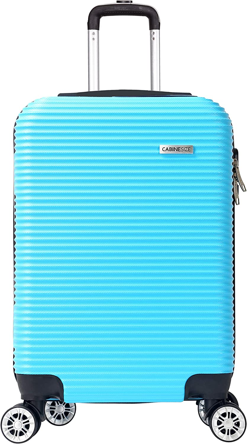 Cabine Size Levin Valise Cabine Rigide 8 Roues agreee Low Cost Turquoise