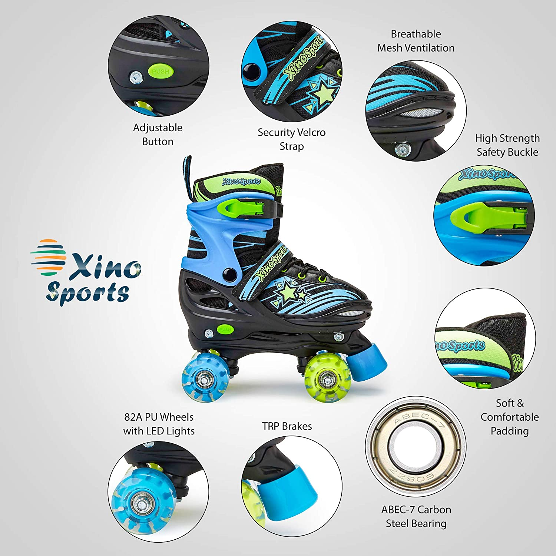 Xino Sports Kids Adjustable Roller Skates - 1