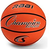 Champion Sports Official Heavy Duty Rubber Cover Nylon Basketballs