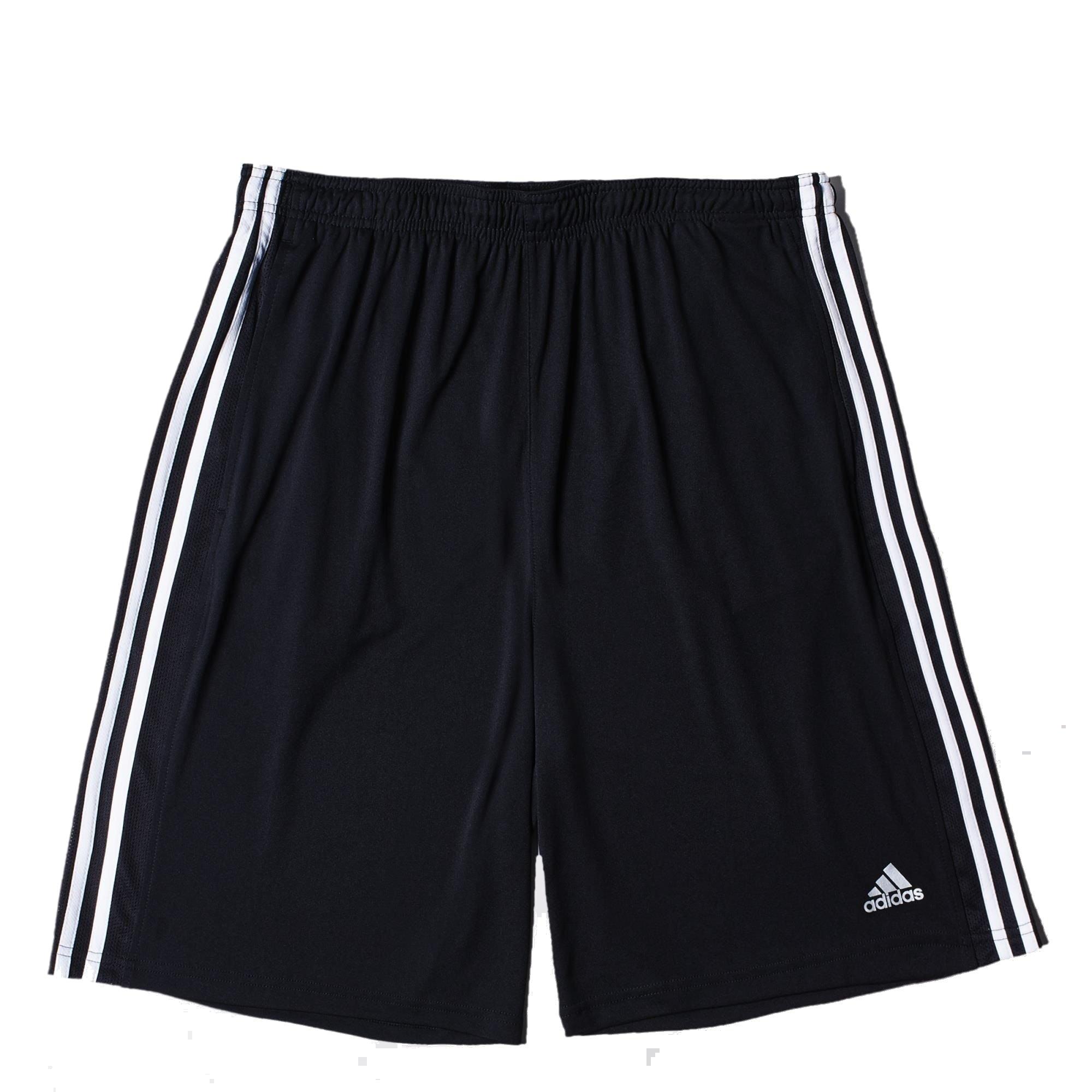 Adidas Mens Climalite 3 Stripes Knit Training Shorts Black White Medium by adidas
