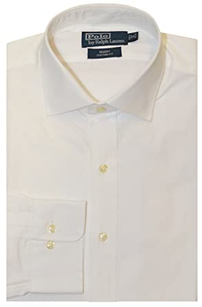 41deeff8c144bb Ralph Lauren Polo Hommes Regent Custom Fit Robe Chemise - Blanc - 44 42 43