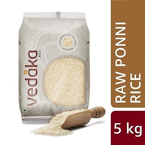 Amazon Brand - Vedaka Ponni Rice, Raw, 5kg
