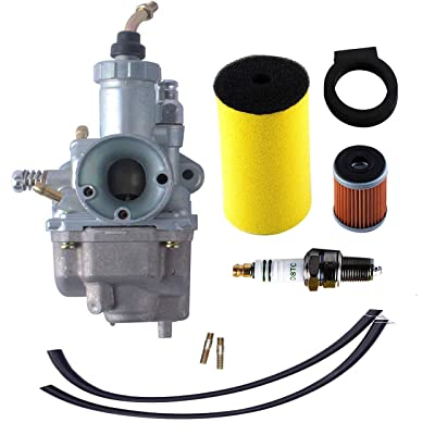 250 Carburetor for Yamaha Timberwolf YFB250 YFB250FW with 1YW-14451-00-00 Air Filter 1992-2000 YFB250D YFB250E YFB250FWF YFB250FWH YFB250FWJ YFB250FWK YFB250FWM Oil Filter Spark Plug ATV Parts: Automotive