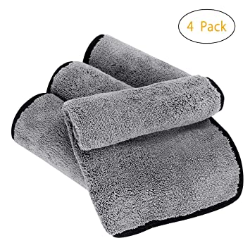Bayeta de Limpieza de Microfibra, Doble Capa Coche Paños Toalla Ultra Grueso Toallas de Auto Limpieza de Polaco para lavar ...