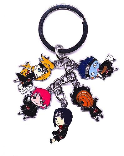 Anime Domain Llavero de Naruto Akatsuki con 5 Figuras de ...