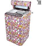 E-Retailer Purple Square Design Top Load Washing Machine Cover (Suitable For 6 Kg, 6.5 Kg, 7 Kg, 7.5 Kg)