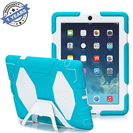Ipad 2/3/4 Case, Kidspr Ipad CaseNewHot Super Protect [Shockproof] [Rainproof] [Sandproof] with Built-in Screen Protector for Apple Ipad 2/3/4 (Lake ...