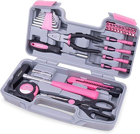 Apollo DT9706PUK Accueil kit d/'outils 39 Pièce Dames Set avec la plupart atteint pour rose