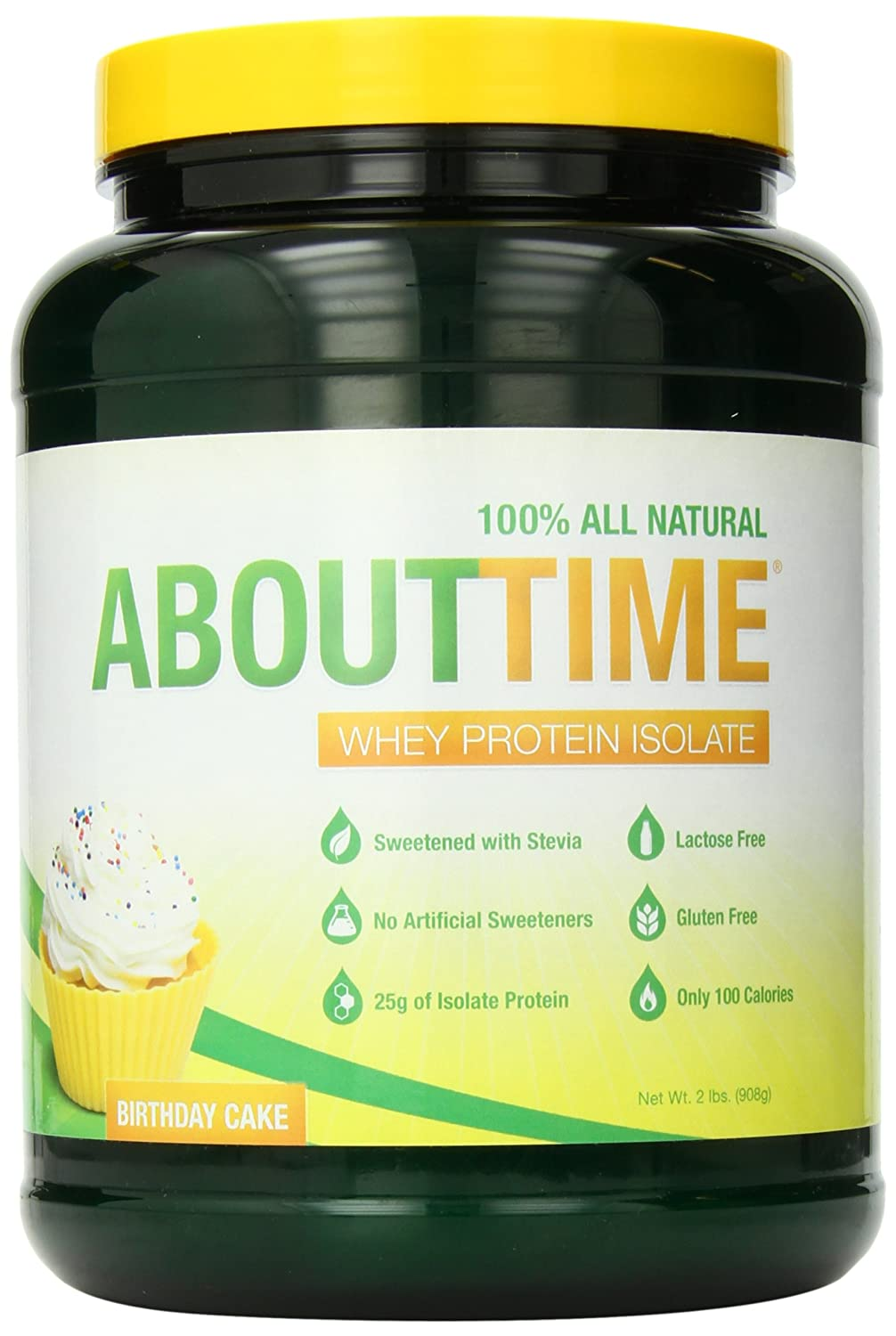 Amazon Com Sdc Nutrition About Time Whey Protein Isolate Birthday Cake 2 Pound Health Personal Care