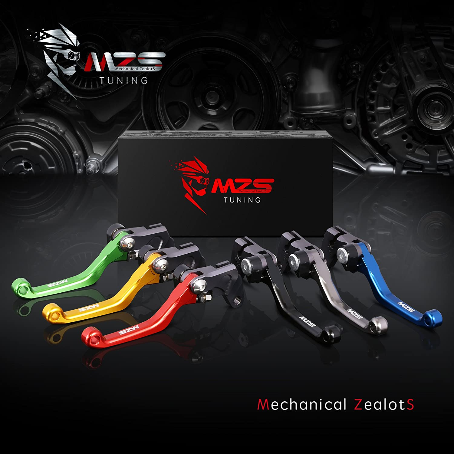 MZS PT-0921 Pivot Levers Brake Clutch Adjustment CNC Black