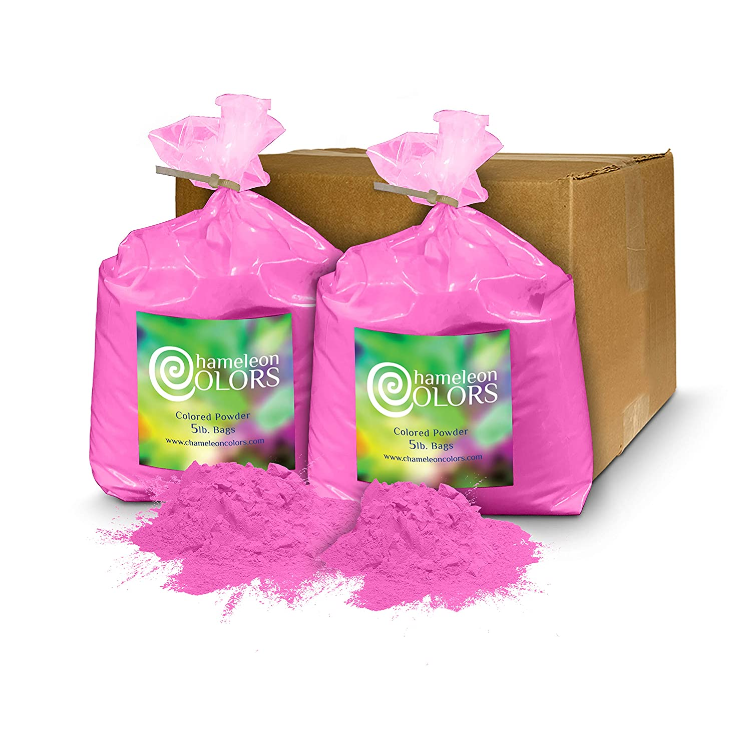 Color Powder Gender Reveal >> Holi Color Powder Gender Reveal By Chameleon Colors 10 Lbs Pink Same Premium Authentic Product Used For A Color Run 5k Etc