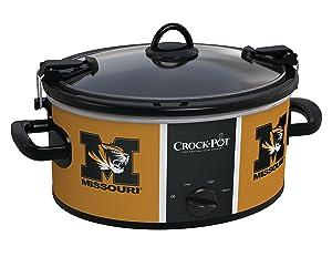 Crock-pot SCCPNCAA600-MUT Missouri University Tigers Slow Cookers, White