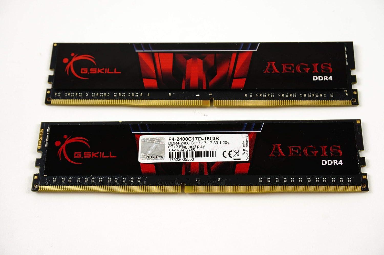 G.Skill Aegis 16GB 2 x 8GB 288-Pin SDRAM DDR4 2400 (PC4 19200) Intel Z170/X99 Platform Desktop Memory F4-2400C15D-16GIS