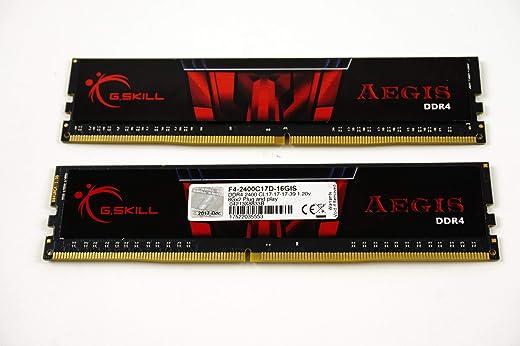 G.Skill Aegis 16GB 2 x 8GB 288-Pin SDRAM DDR4 2400 (PC4 19200) Intel Z170/X99 سطح المكتب ذاكرة F4-2400C15D-16GIS