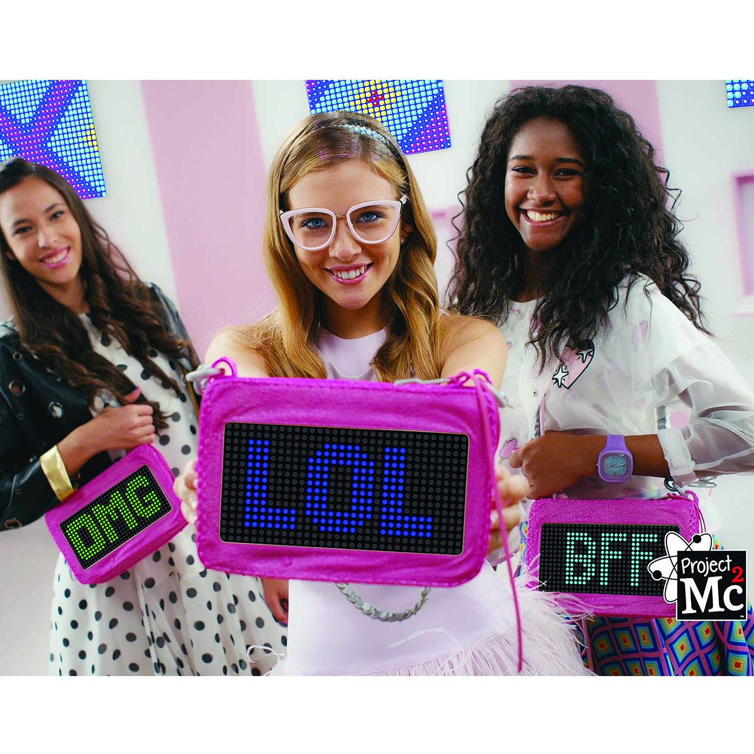 Girls Handbag Gift Project Mc2 Smart Pixel Purse Toy Led Light iOS and android