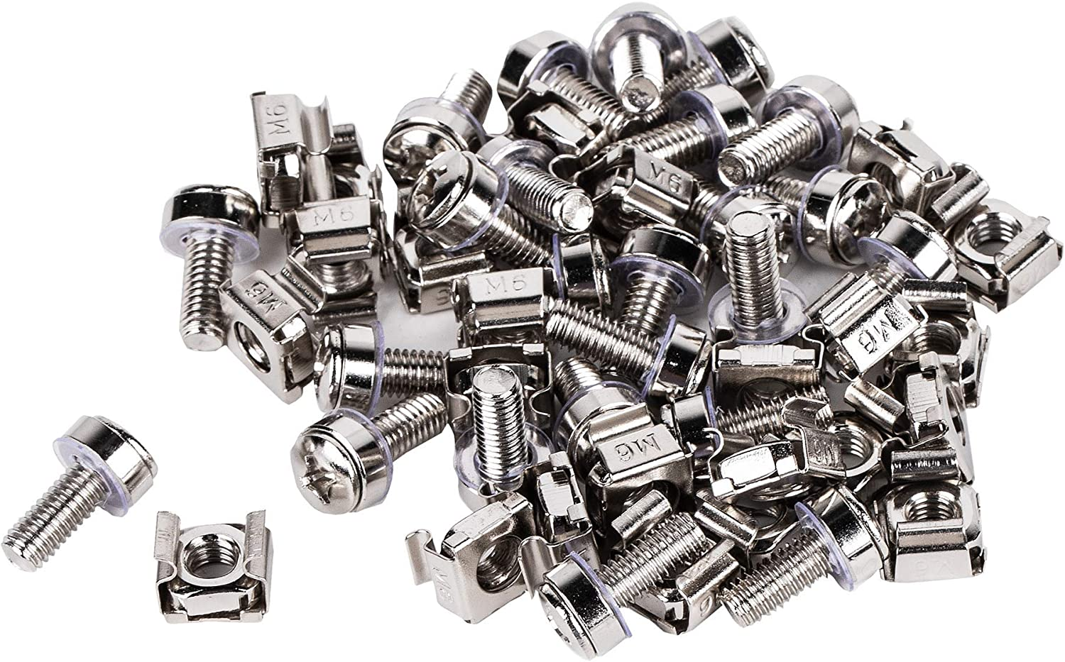 KENUCO M6 Cage Nuts and Screws for Rack Mount Server Shelves Cabinets Set of 30 PCS
