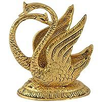 Gac Oxidize Metal Decorative Golden Swan Duck Shape Napkin Holder