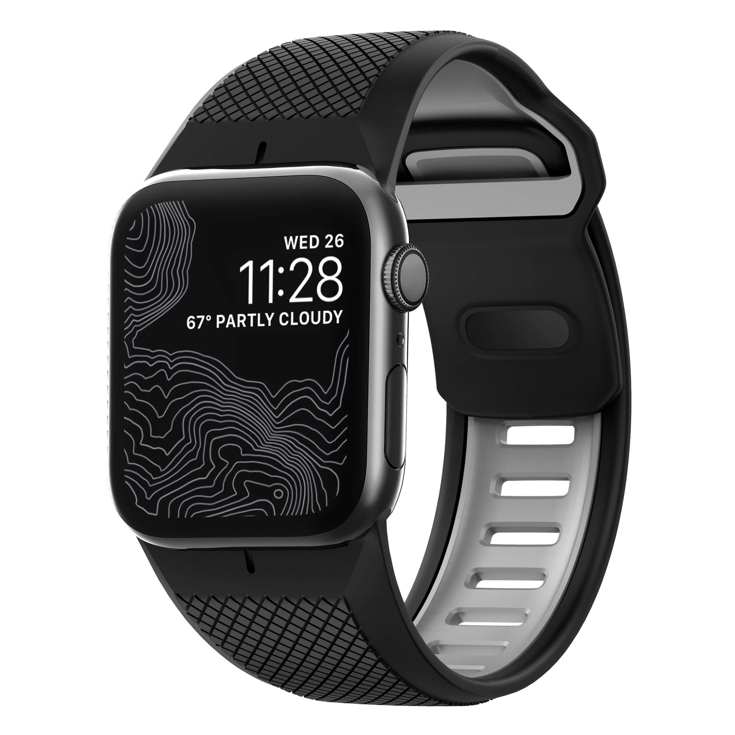 Nomad Sport Strap for Apple Watch 44mm/42mm   Black + Slate by Nomad