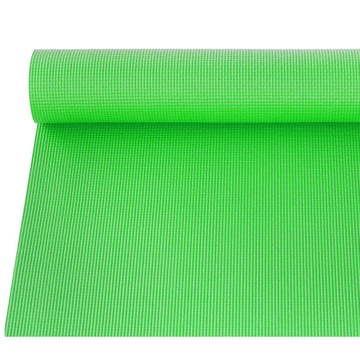 KSAR Sports Large Green Yoga Mat & FREE Carry Bag - 173cm x 61cm - 6mm PVC Foam - YOGA/PILATES/HOME