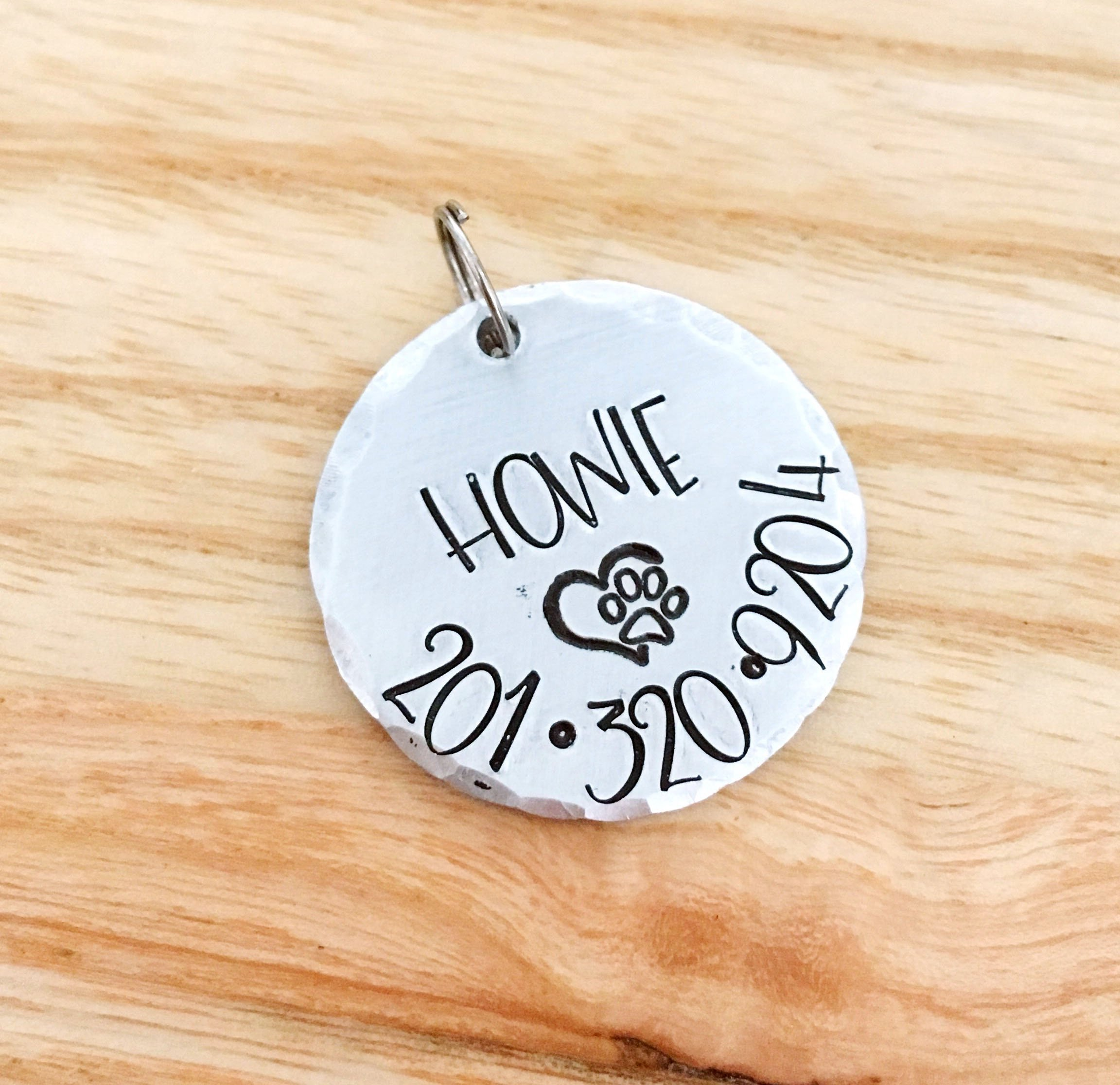 Personalized Pet Tag, Dog Cat ID, New Puppy Kitten Identification by Mommy's Metalz