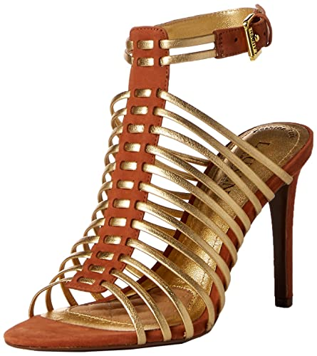 6fe2b8ac325f9 Lauren Ralph Lauren Women's Skyla Heeled Sandal, RL Gold/Polo Tan/Elko  Nubuck