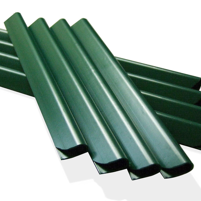 24 Stück PVC - Sichtschutzstreifen Klemmschienen – moosgrün M-tec technology GmbH