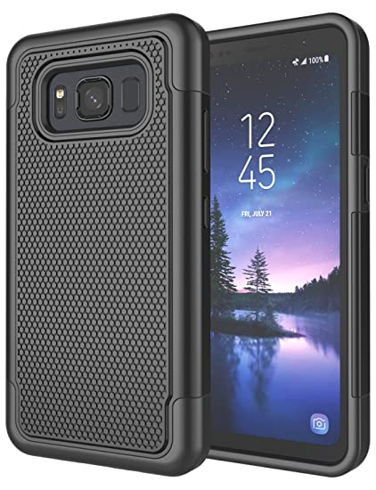 big sale 1d9d5 d8065 Galaxy S8 Active Case, S8 Active Cover, Jeylly [Shock Proof] Rubber Plastic  Scratch Resistant Defender Bumper Rugged Hard Outer Cases Cover for AT&T ...